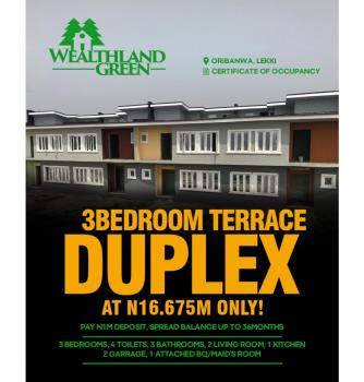 *wealthland Green Estate*, Oribanwa Lekki Pennisula, Lekki, Lagos, House for Sale