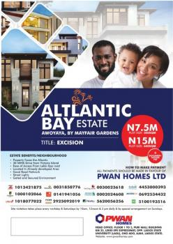 Land for Sale in Lagos, Atlantic Bay Estate (30 Mins From Victoria Island), Awoyaya, By Mayfair Gardens Lagos., Awoyaya, Ibeju Lekki, Lagos, Mixed-use Land for Sale