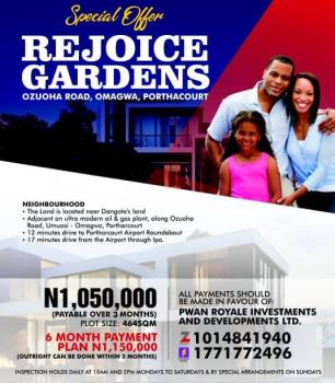 Rejoice Gardens, Ozuoha Road, Omagwa, Port Harcourt, Rivers, Land for Sale