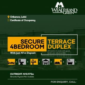 Wealthland Green Estate, Oribanwa, Ibeju Lekki, Lagos, Terraced Duplex for Sale