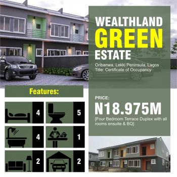 Wealth Land Green Estate, Oribanwa, Lekki, Lagos, Terraced Duplex for Sale