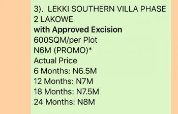 Lekki Southern Villa, Phase 2, Lakowe, Ibeju Lekki, Lagos, Land for Sale