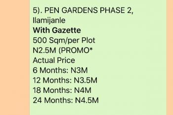 Pen Garden, Phase 2, Epe, Lagos, Land for Sale