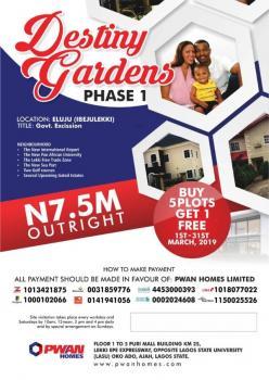 for Sale: Land Beside Amen Estate  Before Eleko Junction Ibeju Lekki(destiny Gardens Phase 1), Before Eleko Junction Ibeju Lekki, Eluju, Ibeju Lekki, Lagos, Residential Land for Sale