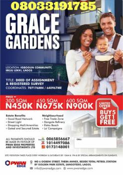 Land with Survey/excision File No:ki7413, Ilogbo Area,just Few Min Drive After Lacampaignes Tropicana Notable Beach Resort Centre, Mafogunde, Ibeju Lekki, Lagos, Mixed-use Land for Sale