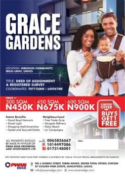 Land for Sale in Ibeju Lekki, Igbogun Community, Orimedu, Ibeju Lekki, Lagos, Residential Land for Sale