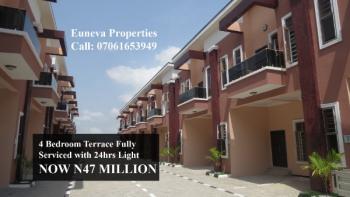 Lovely Spacious 4 Bedroom Serviced Terrace, Chevron, Lekki, Lagos, Terraced Duplex for Sale