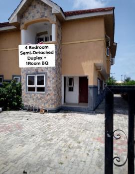4 Bedroom Duplex with a Room Bq, Mobil Road, Ilaje, Ajah, Lagos, Semi-detached Duplex for Rent