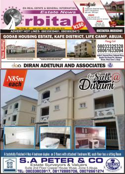 4 Numbers, 4 Bedroom Terraced Town House, 773, Sentinel Crescent, Opposite Maltina Depot, Durumi, Abuja, Terraced Duplex for Sale
