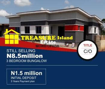 3 Bedroom Bungalow with C of O, Obafemi Owode, Ogun, Detached Bungalow for Sale