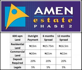 Commercial Land at Amen Estate Limited Units, Eleko, Ibeju Lekki, Lagos, Commercial Land for Sale