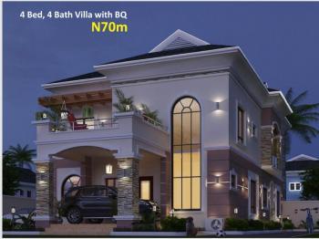 4 Bedroom & 4 Bathroom Villa with Self Contained Bq, Eleko Beach Road, Off Lekki Epe Express Road, Eleko, Ibeju Lekki, Lagos, Detached Bungalow for Sale
