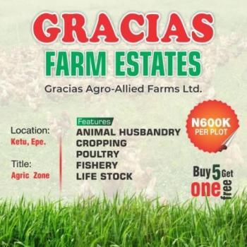 Gracias Farm Estates (agriculture), Epe, Lagos, Commercial Land for Sale