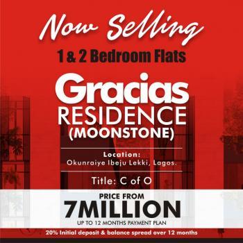 2bedroom Apartments @gracias Moonstone Ibeju Lekki, Okunraiye Town Ibeju Lekki, Okunraiye, Ibeju Lekki, Lagos, Block of Flats for Sale