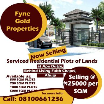 Serviced Residential Plots for Sale at Apo Dutse, Apo Dutse, Behind Living Faith Chapel, Apo, Abuja, Apo, Abuja, Residential Land for Sale