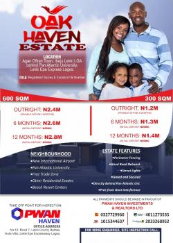 Oak Haven Estate, Eleko Back of Pan Atlantic University, Eleko, Ibeju Lekki, Lagos, Mixed-use Land for Sale