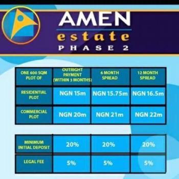 Amen Estate Phase Ii, Eleko Junction, 20 Mins to Ajah Bust Stop, Ajah, Lagos, Mixed-use Land for Sale