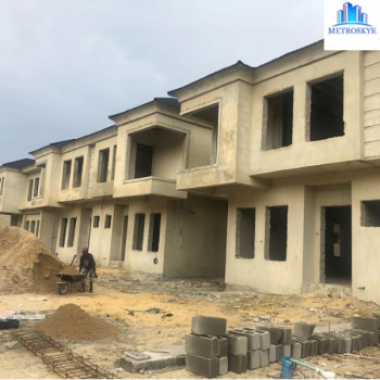 Fascinating and Serviced 4 Bedroom Terrace Duplexes, Chevron, Lekki, Lagos, Terraced Duplex for Sale