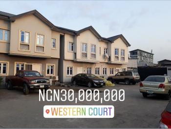 an Existing 3 Bedroom Terrace with 3 Toilets, 2 Baths, Western Court, Ebute Metta West, Yaba, Lagos, Terraced Duplex for Sale