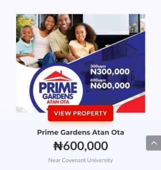 Prime Garden Atan, Atan,ota,ogun State.near Convenant University, Sango Ota, Ogun, Residential Land for Sale