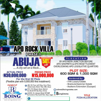 Apo Rock Villa Estate Phase1, By Nepa Junction, Before Shoprite and Apo Resettlement, Apo, Abuja, Mixed-use Land for Sale