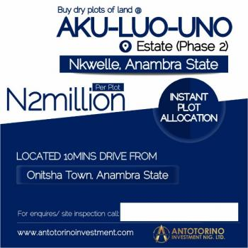 Land, Nkwelle, Oyi, Anambra, Residential Land for Sale
