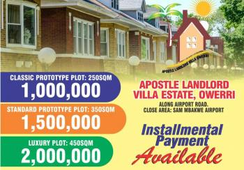 Land, Along Airport Road ,sam Mbakwe,imo State, New Owerri, Owerri, Imo, Residential Land for Sale