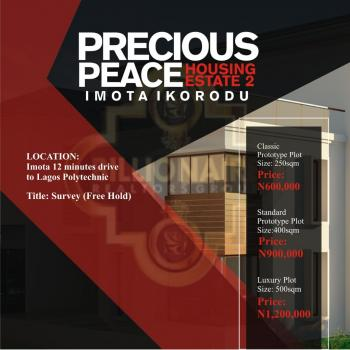 Precious Peace  Housing Estate 2, Just 12minute Drive From Lagos Polytechnic By Imota, Maya, Ikorodu, Lagos, Residential Land for Sale