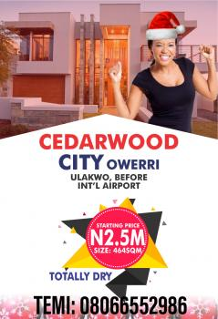 Cedarwood City (ready to Build), Ulakwo, New Owerri, Owerri, Imo, Mixed-use Land for Sale