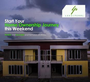 Semi-detached 4 Bedroom with a Bq in a Fancy Living in a Neighborhood in, Sangotedo, Ajah, Lagos, Semi-detached Duplex for Sale