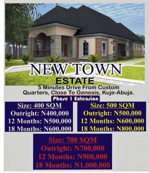 Estate Land, 5min Drive From Custom Quarters, Close to Genesis, Kuje, Abuja, Residential Land for Sale