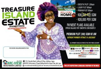 C of O, Treasure Island Estate ., Sangotedo, Ajah, Lagos, Residential Land for Sale
