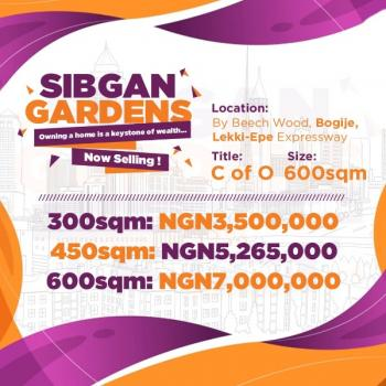 Dry Land with C of O, a Few Minutes From The Express Way, Bogije, Ibeju Lekki, Lagos, Residential Land for Sale