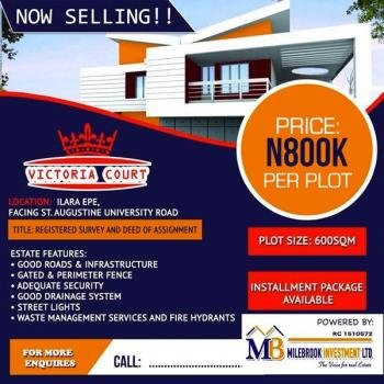 Land, Facing Augustine University Road, Epe, Lagos, Mixed-use Land for Sale