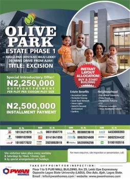 Estate Land for Sale with Government Excisions, Abule Pan(aiyeteju), Eleko, Ibeju Lekki, Lagos, Residential Land for Sale