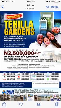 Land in Owerri, Avu Oforola, Owerri, Imo, Residential Land for Sale