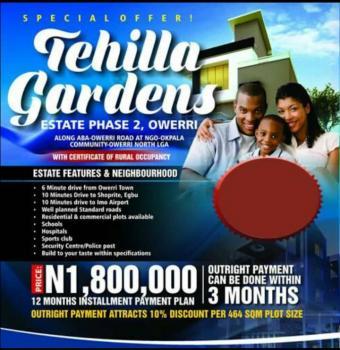 Tehilla Garden Phase Two, Along Aba Owerri Road, Ngor Okpala, New Owerri, Owerri, Imo, Residential Land for Sale