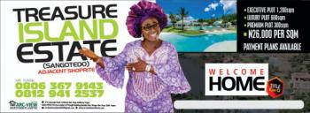 Land, Treasure Island Estate, Abijo, Lekki, Lagos, Mixed-use Land for Sale