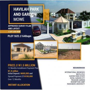 Havilah Parks and Gardens. Land, Close Proximity to Redeemers University, Mowe Ofada, Ogun, Mixed-use Land for Sale