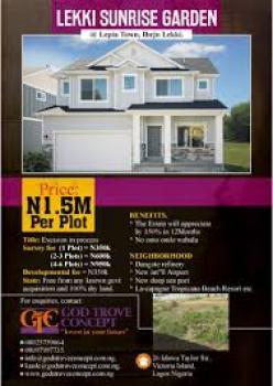 Lekki Sunrise Garden, 5 Mins Drive From Dangote Refinery, Ibeju, Lagos, Residential Land for Sale