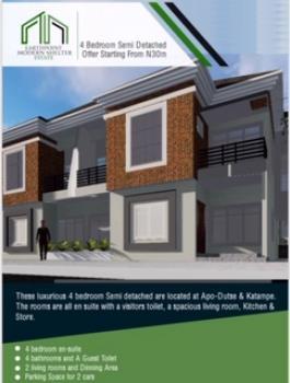 4 Bedroom Terrace Duplex, Berger Clinic Dape, Lifecamp Abuja, Dape, Abuja, Detached Duplex for Sale