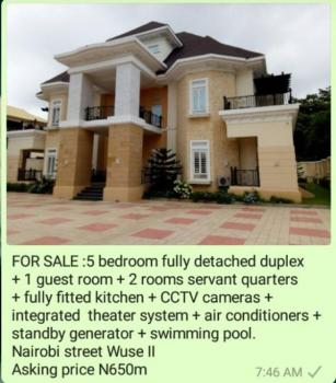 5 Bedroom Fully Detached Duplex and 1 Guest Room, Wuse 2, Abuja, Detached Duplex for Sale