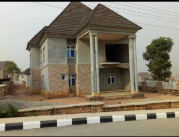 5 Bedroom Detached Duplex with Two Rooms Detached Bq and Space for Swimming Pool, River Park Estate, Lugbe District, Abuja, Detached Duplex for Sale