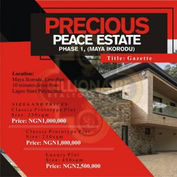 Land, Less Than 10 Minutes Drive From Lagos State Polytechnic, Maya, Ikorodu, Lagos, Mixed-use Land for Sale