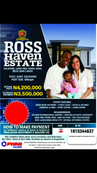 Ross Haven Estate, Along Dangote Refinery, Orimedu, Ibeju Lekki, Lagos, Residential Land for Sale