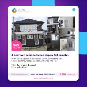 4 Bedroom Semi-detached Duplex ( All Ensuite ), Off Shop Rite Road, Agungi, Lekki, Lagos, Semi-detached Duplex for Sale