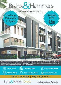 4 Bedroom Maisonettes, Ifako Beside Global Impact Church, Ori-oke, Ogudu, Lagos, Terraced Duplex for Sale