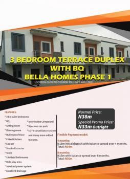 3 Bedroom Terrace Duplex with Bq, Chevron, Ikota Villa Estate, Lekki, Lagos, Terraced Duplex for Sale