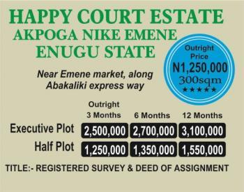 Estate Land, Akpoga Nike, Emene, Enugu, Enugu, Mixed-use Land for Sale