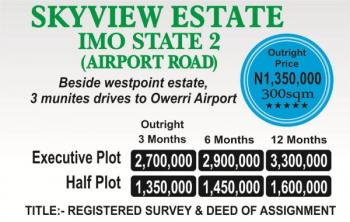 Estate Land, Airport Road, Owerri, Imo, Residential Land for Sale